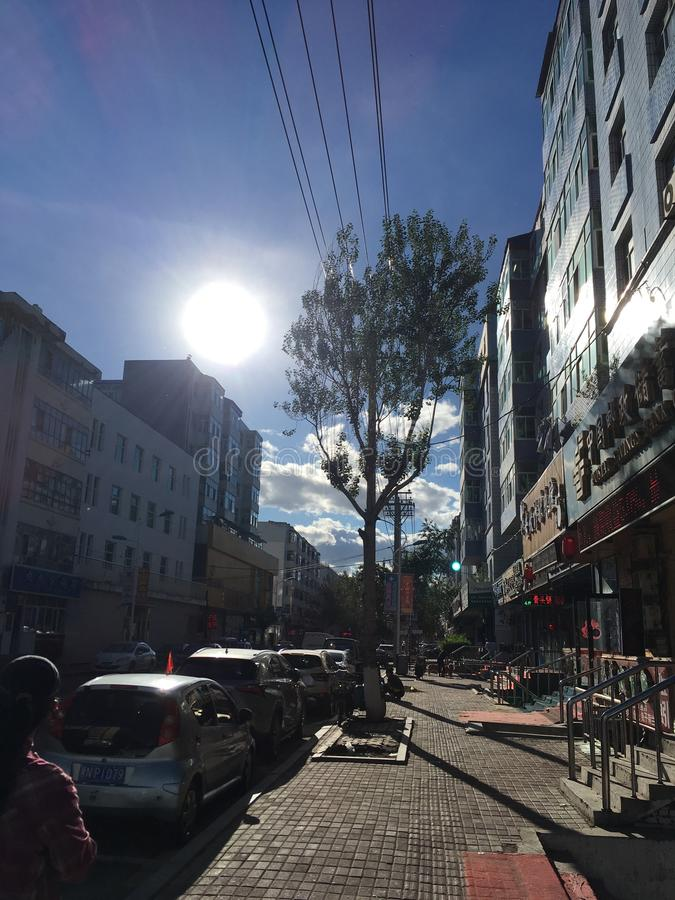 Китайская улица городка стоковые изображения rf