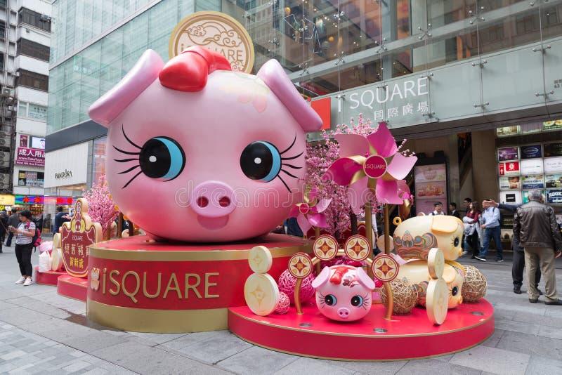 Китайский Новый Год в Гонконге стоковое фото