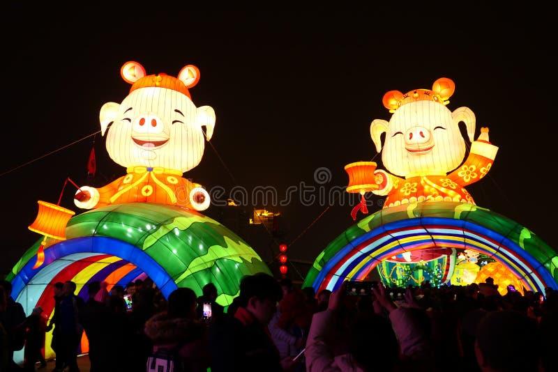 2019 китайских Новых Годов в Xian стоковые изображения rf