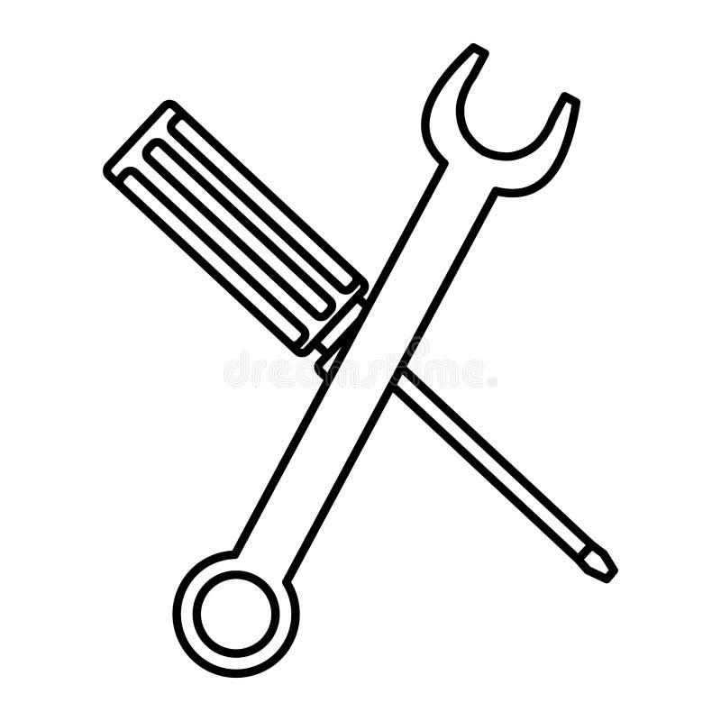 Ключ ключа и инструменты отвертки бесплатная иллюстрация