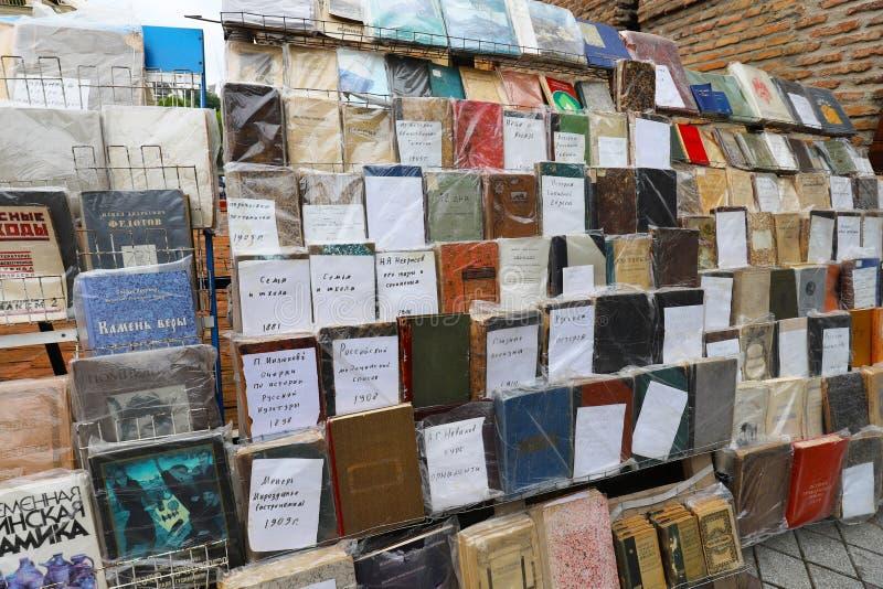 Книги глохнут в городе Тбилиси, Грузии стоковая фотография rf