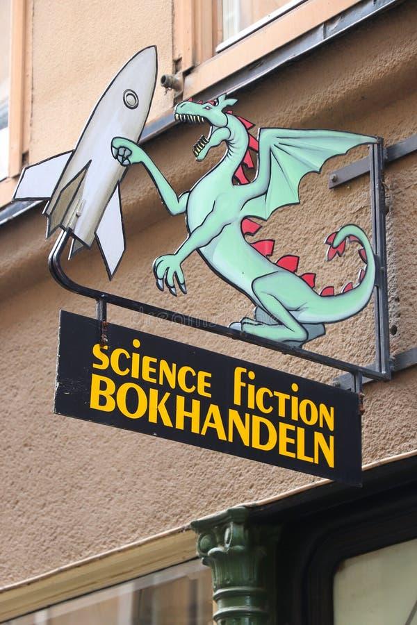Книжный магазин научной фантастики стоковая фотография rf