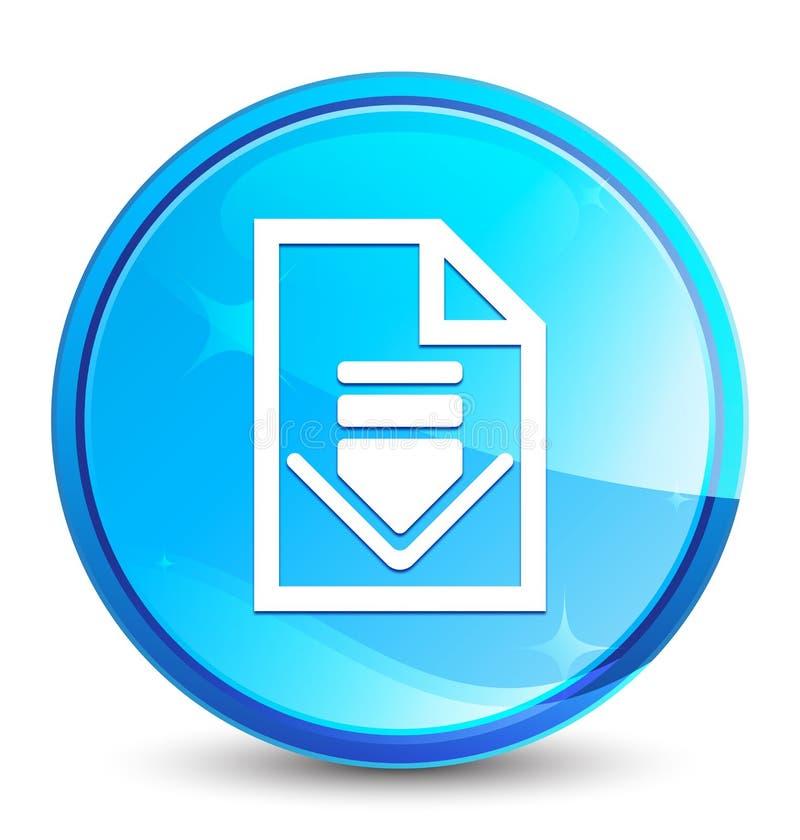 Кнопка выплеска значка документа загрузки естественная голубая круглая бесплатная иллюстрация