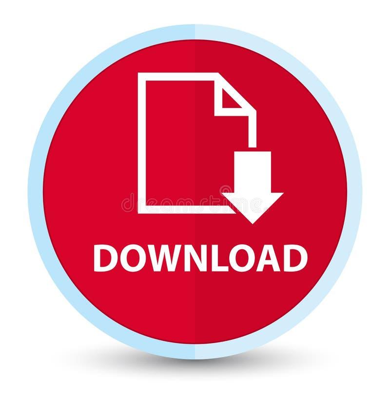 Кнопка загрузки (значка документа) плоская основная красная круглая бесплатная иллюстрация