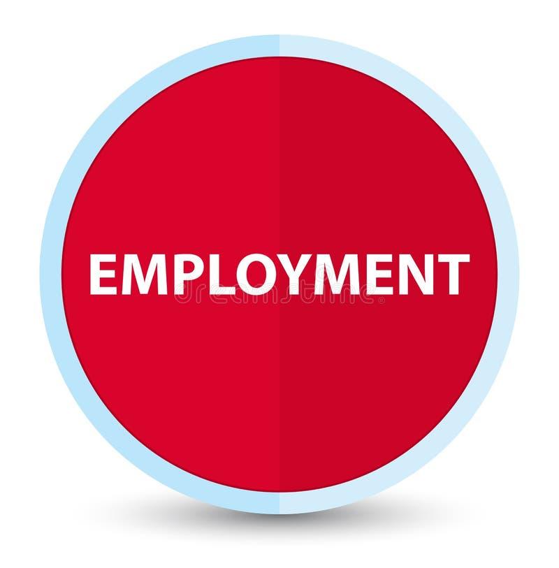 Кнопка занятости плоская основная красная круглая бесплатная иллюстрация