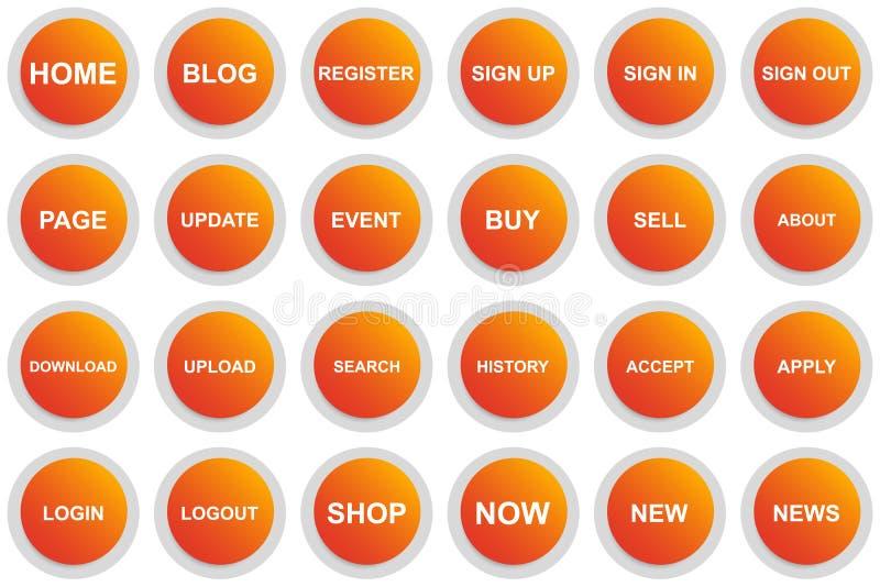 Кнопка меню круга для вебсайта или приложения иллюстрация штока