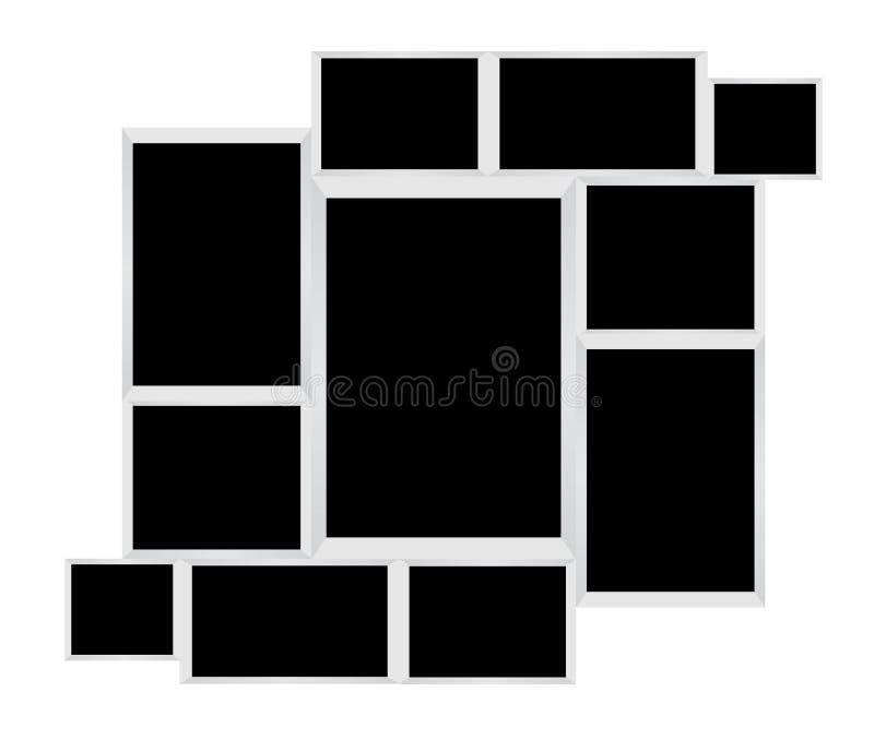Куча пустых рамок фото иллюстрация штока