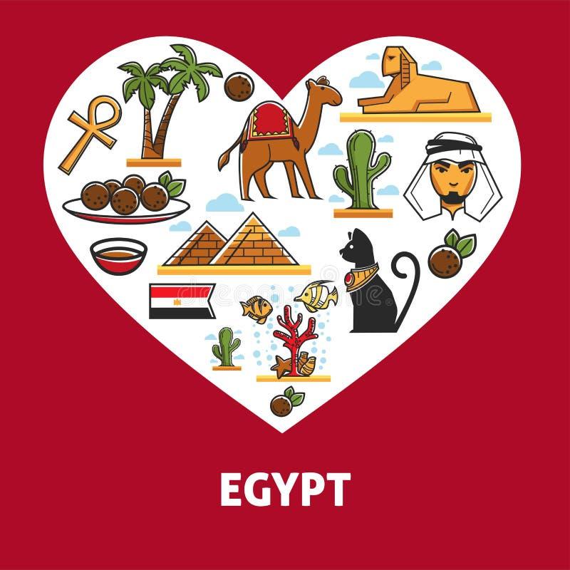 Кухня архитектуры символов Египта египетские и привлекательности или ориентиры животных бесплатная иллюстрация