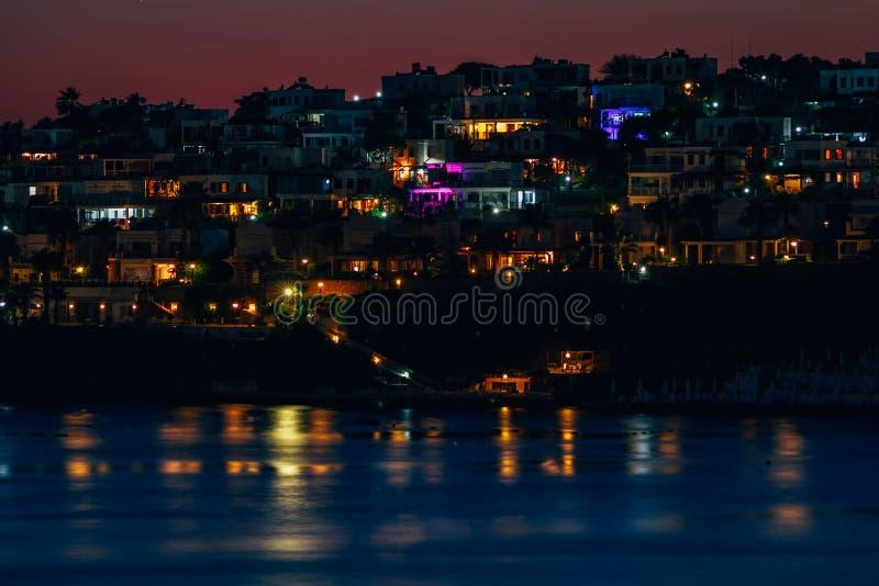 Курорты и одно красивых заливов Bodrum стоковое фото rf