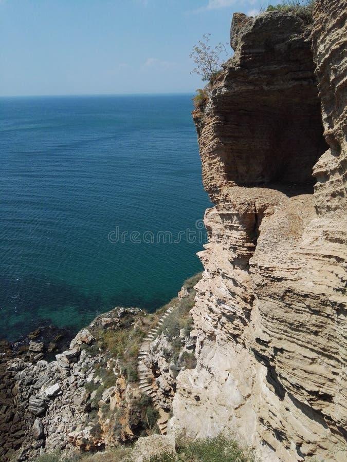 Красивая пещера Kaliakra в Болгарии стоковая фотография