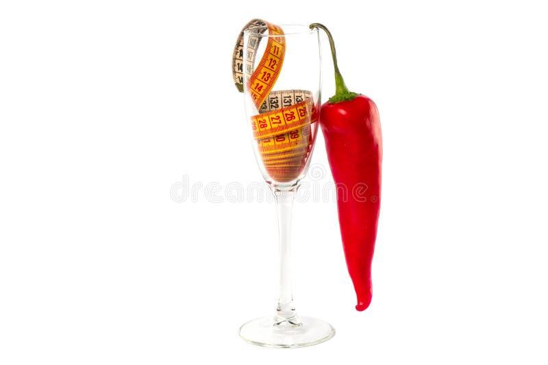 Красивая стеклянная диета фотографии концепции стоковые изображения rf