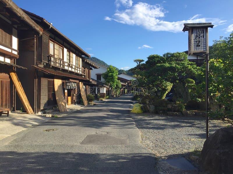 Красивый вид деревни Tsumago-juku на дороге Nakasendo в Японии стоковое изображение