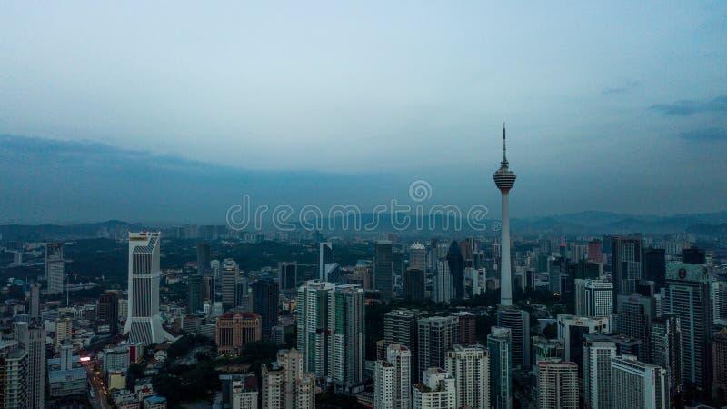 Красивый вид с воздуха горизонта Малайзии citiscape Куалаа-Лумпур стоковое фото