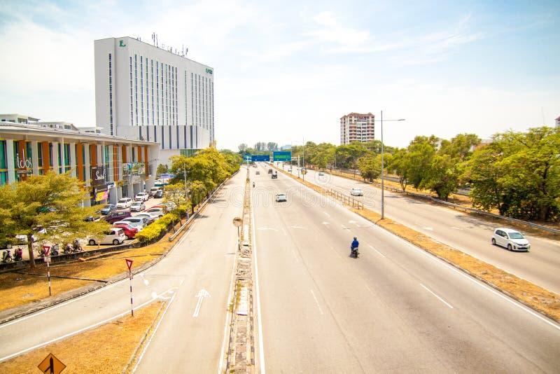 Красивый городской взгляд острова Penang, Малайзии стоковая фотография