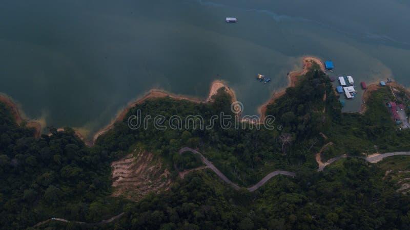 Красивый ландшафт вида с воздуха в королевском Belum Малайзии стоковые фотографии rf