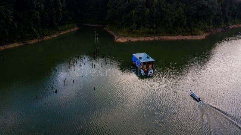 Красивый ландшафт вида с воздуха в королевском Belum Малайзии стоковое изображение rf