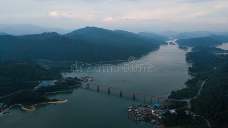 Красивый ландшафт вида с воздуха в королевском Belum Малайзии стоковое фото rf
