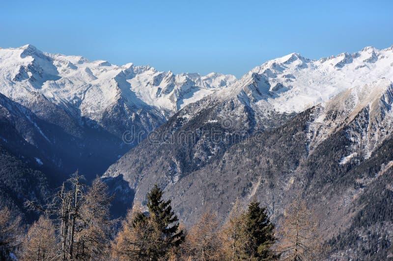 Красивый ландшафт горы - Trentino, доломиты, Италия, Европа стоковая фотография rf