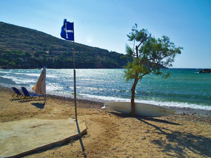 Красивый пляж в острове Греции Хиоса стоковое изображение