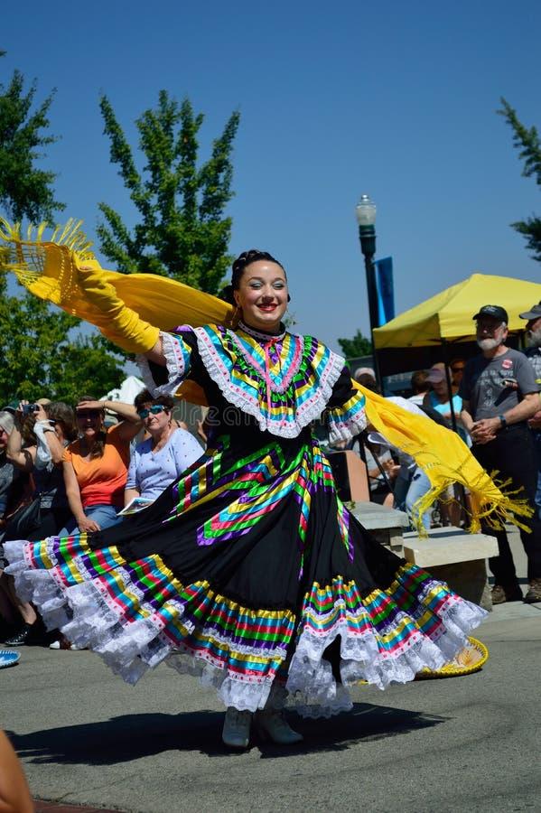 Красивый танцор Boise Айдахо Flemenco женщины стоковая фотография rf