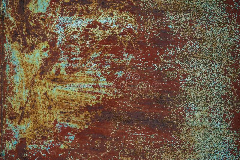краска металла предпосылки слезая ржавую белизну текстуры стоковая фотография