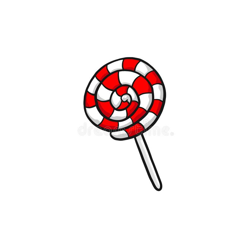 Красная конфета на ручке стоковое изображение