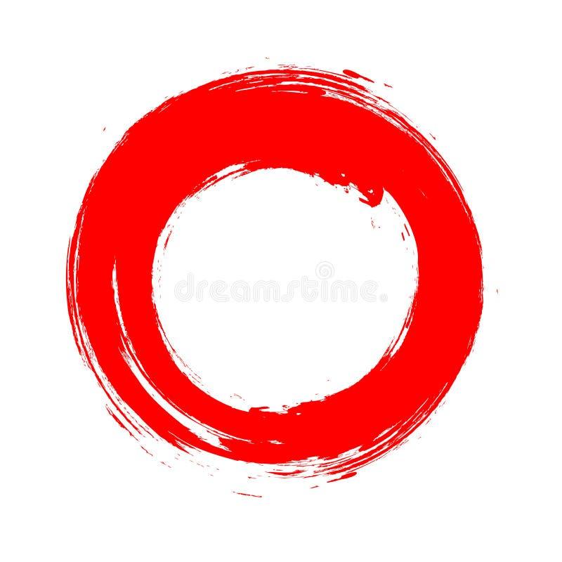 Красный символ Enso иллюстрация штока