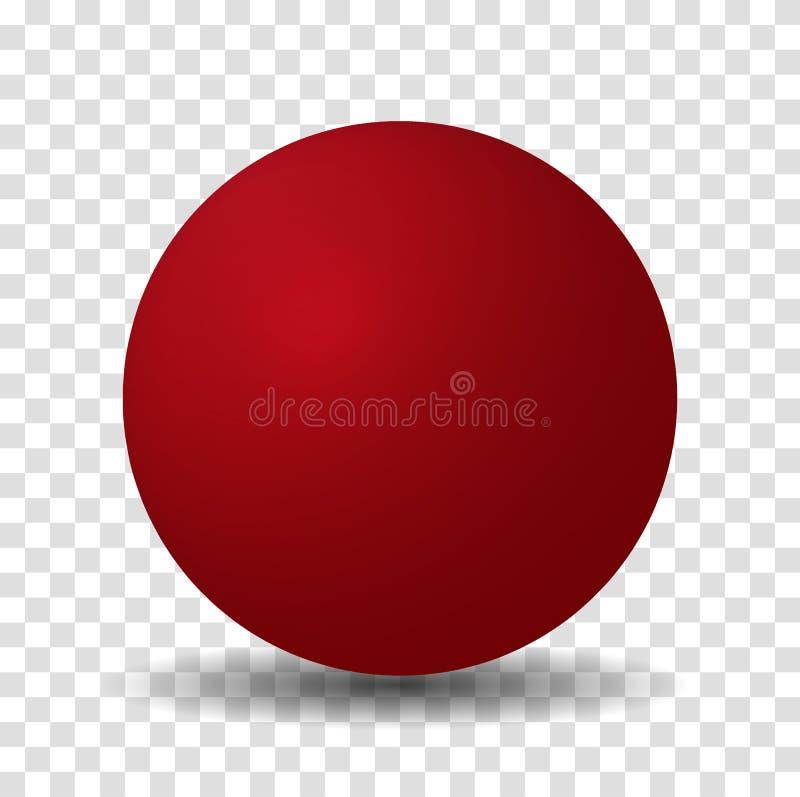 Красный шарик сферы иллюстрация вектора