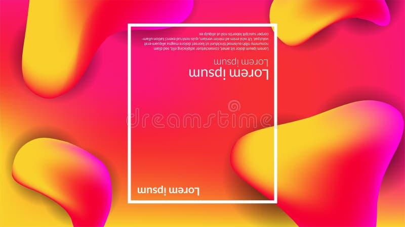 Красный цвет современной предпосылки градиента конспекта жидкий жидкостный оранжевый иллюстрация вектора