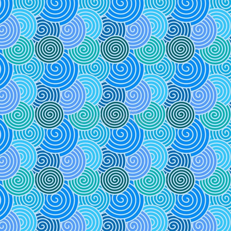 Красочная безшовная спиральная картина для абстрактной предпосылки бесплатная иллюстрация