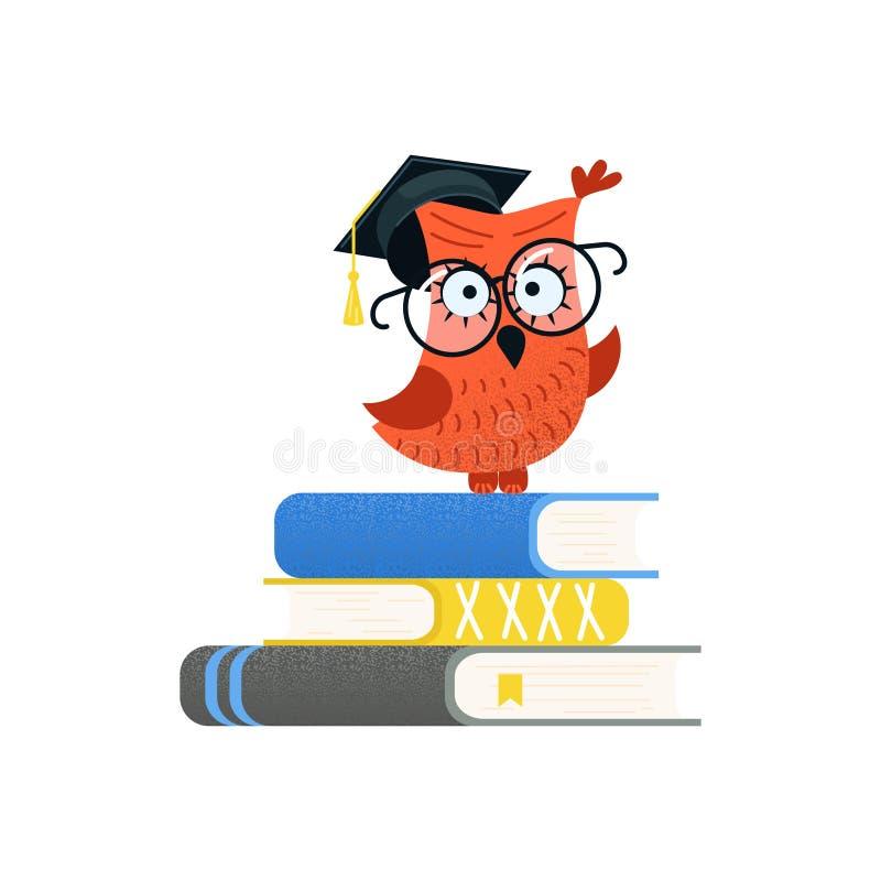 Красочные воспитательные логотип и задняя часть к концепции школы бесплатная иллюстрация