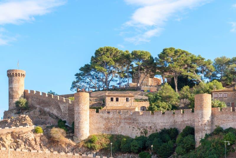 Крепость Vela Vila в Tossa de Повреждать Испания, Каталония стоковая фотография