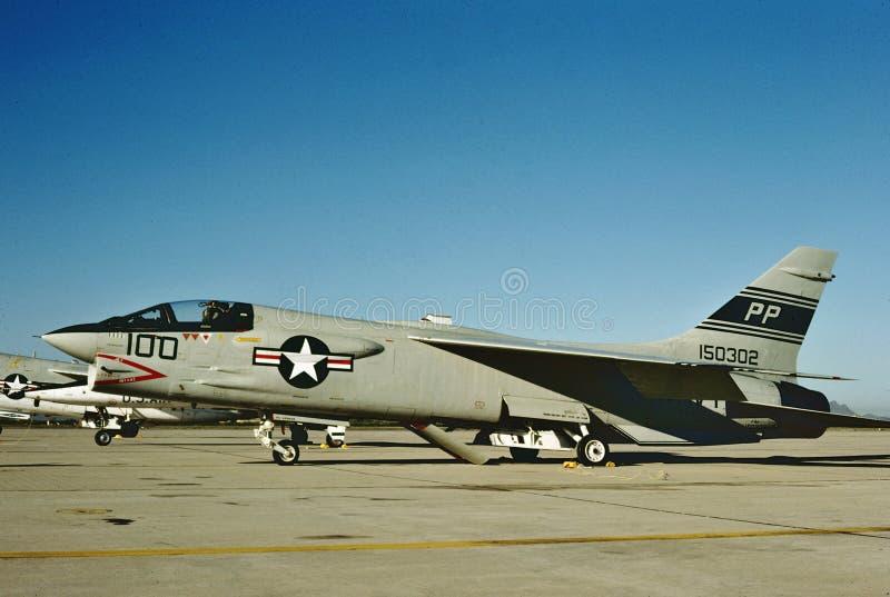 Крестоносец BuNo 150302 USN Vought F-8J стоковые фотографии rf