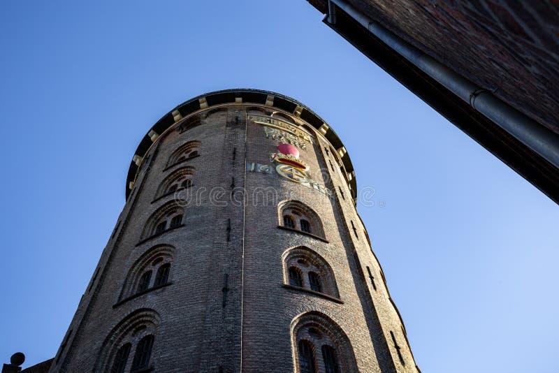 Круглая башня в Копенгагене стоковые изображения rf