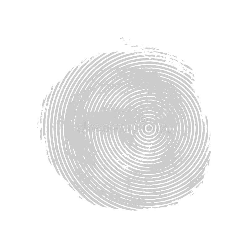 Круг серого несимметричного grunge концентрический иллюстрация вектора