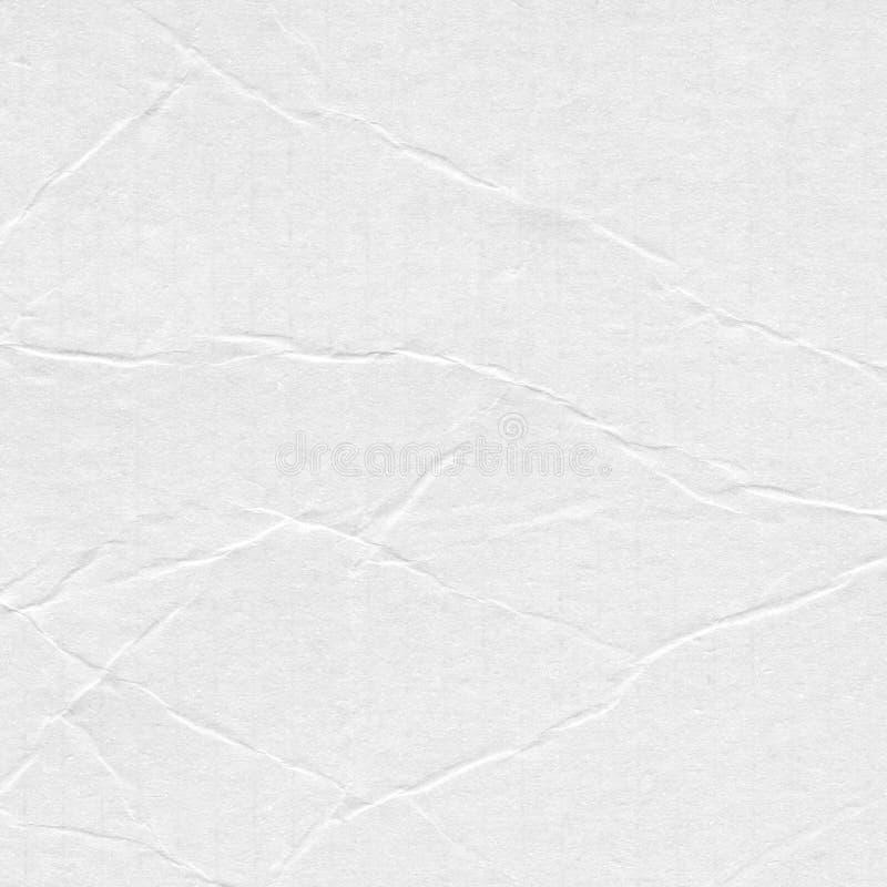 Крупный план скомкал предпосылку текстуры белой бумаги, текстуру Доска листа белой бумаги с космосом для текста, картины или абст стоковая фотография rf