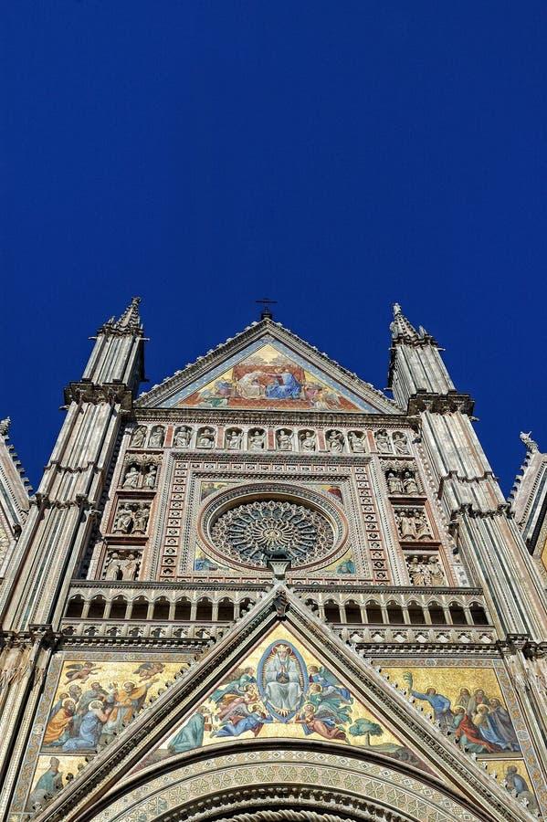 Крупный план собора Orvieto, Умбрии, Италии стоковое фото rf