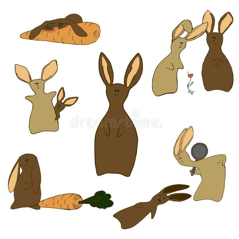 кролики stock image