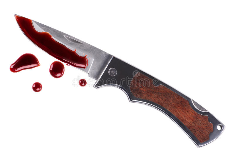 Knife and blood royalty free stock images