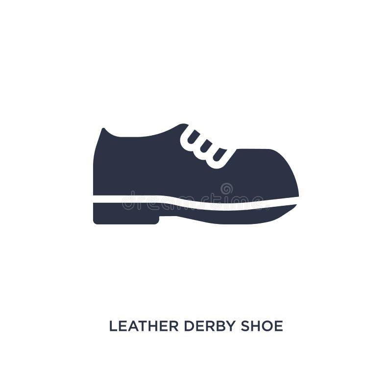 кожаный значок ботинка Дерби на белой предпосылке Простая иллюстрация элемента от концепции одежд бесплатная иллюстрация