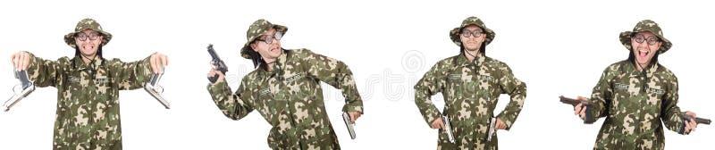 Коллаж смешных фото солдата стоковая фотография rf