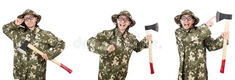 Коллаж смешных фото солдата стоковое фото