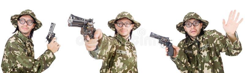 Коллаж смешных фото солдата стоковое изображение rf