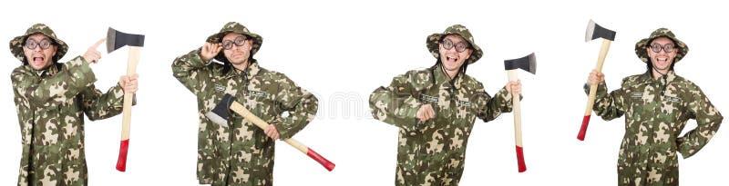 Коллаж смешных фото солдата стоковое фото rf