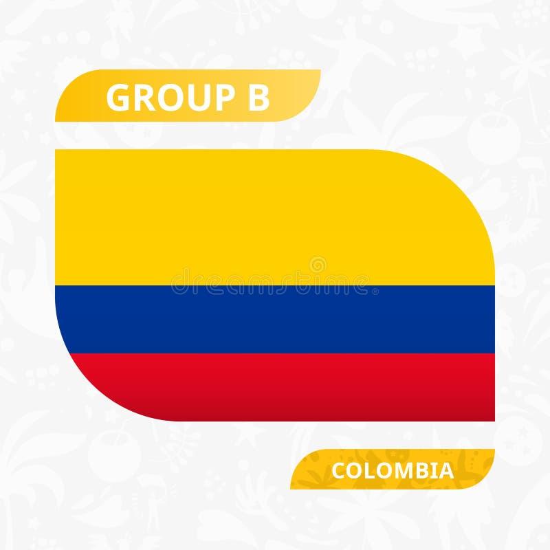 Колумбийский флаг команды, сделанный в стиле конкуренции футбола иллюстрация штока