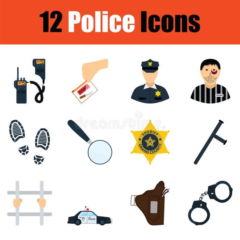 Комплект значков полиции бесплатная иллюстрация