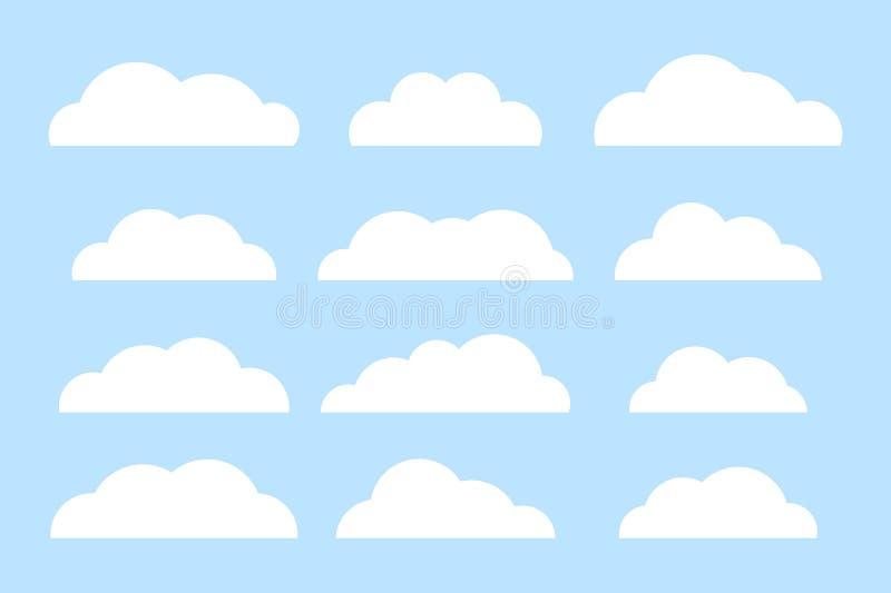 Комплект значков облака бесплатная иллюстрация