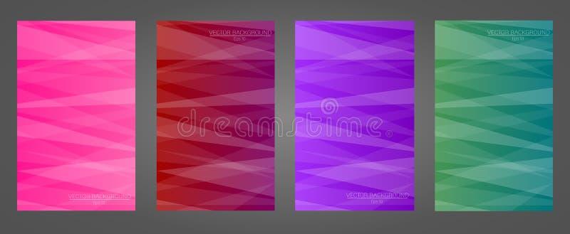 Комплект красочных геометрических предпосылок иллюстрация штока