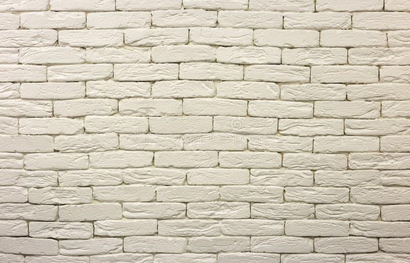 Конец-вверх белой покрашенной побеленной твердой кирпичной стены Абстрактные предпосылка, Bricklaying, конструкция и masonry косм стоковое изображение rf