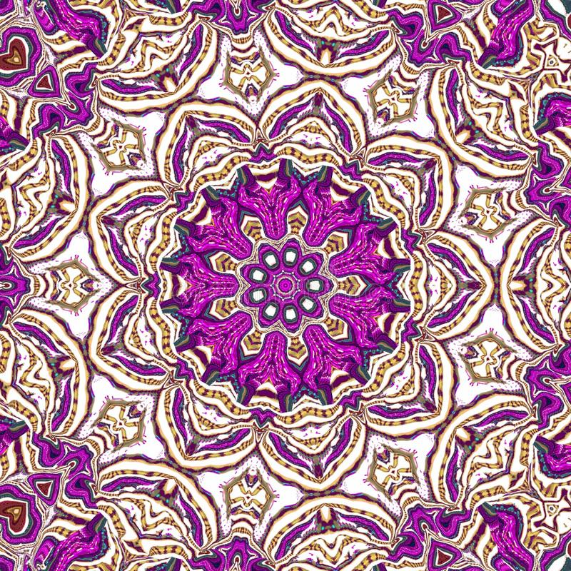 Конспект картины калейдоскопа пурпурный геометрический пинк дизайна иллюстрация вектора